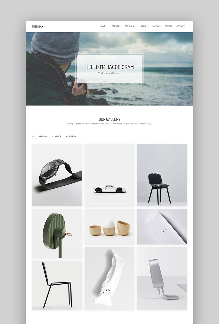 Minimax - Simple Minimal WordPress Portfolio Theme