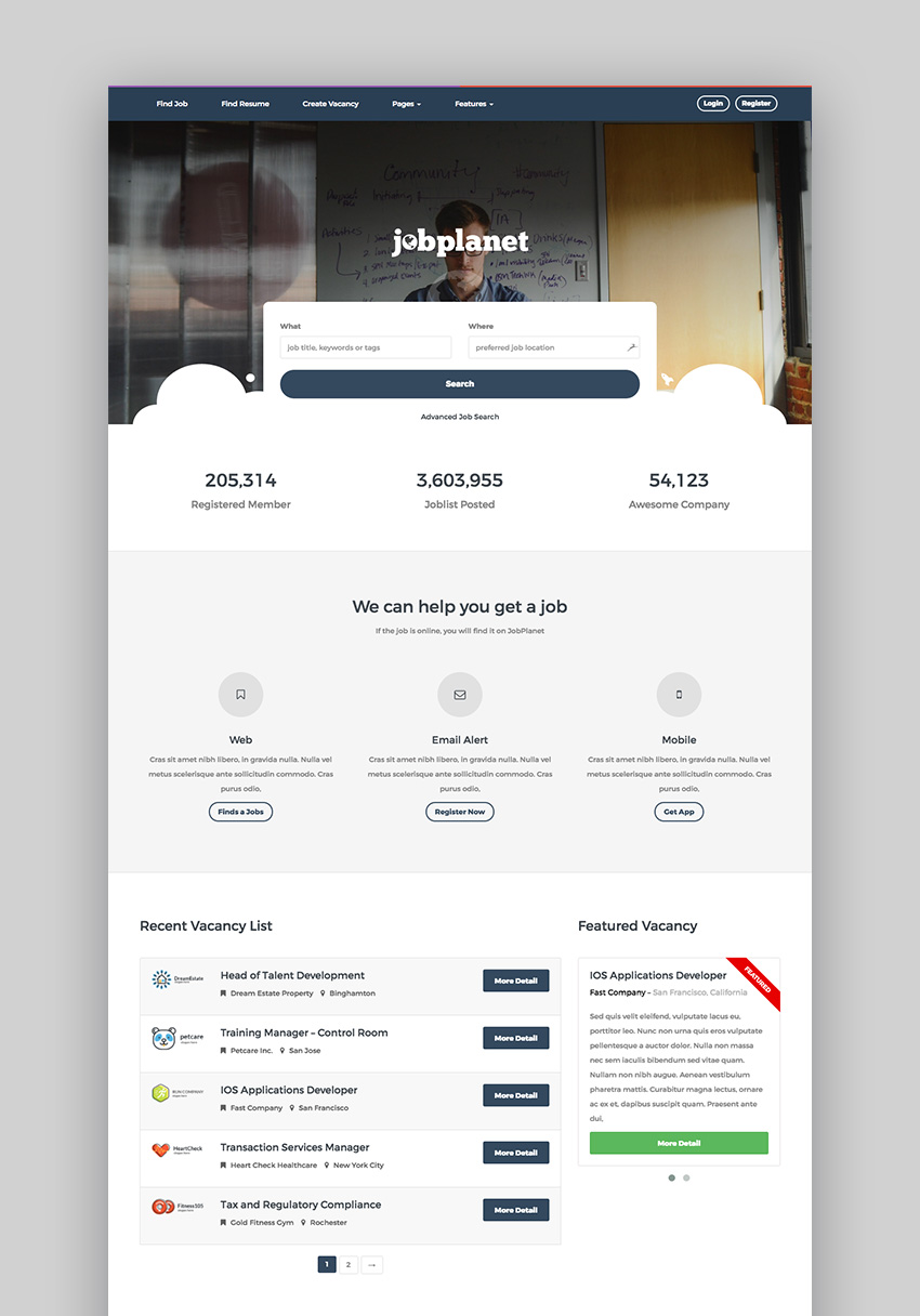 JobPlanet Responsive Job Posting WordPress Theme