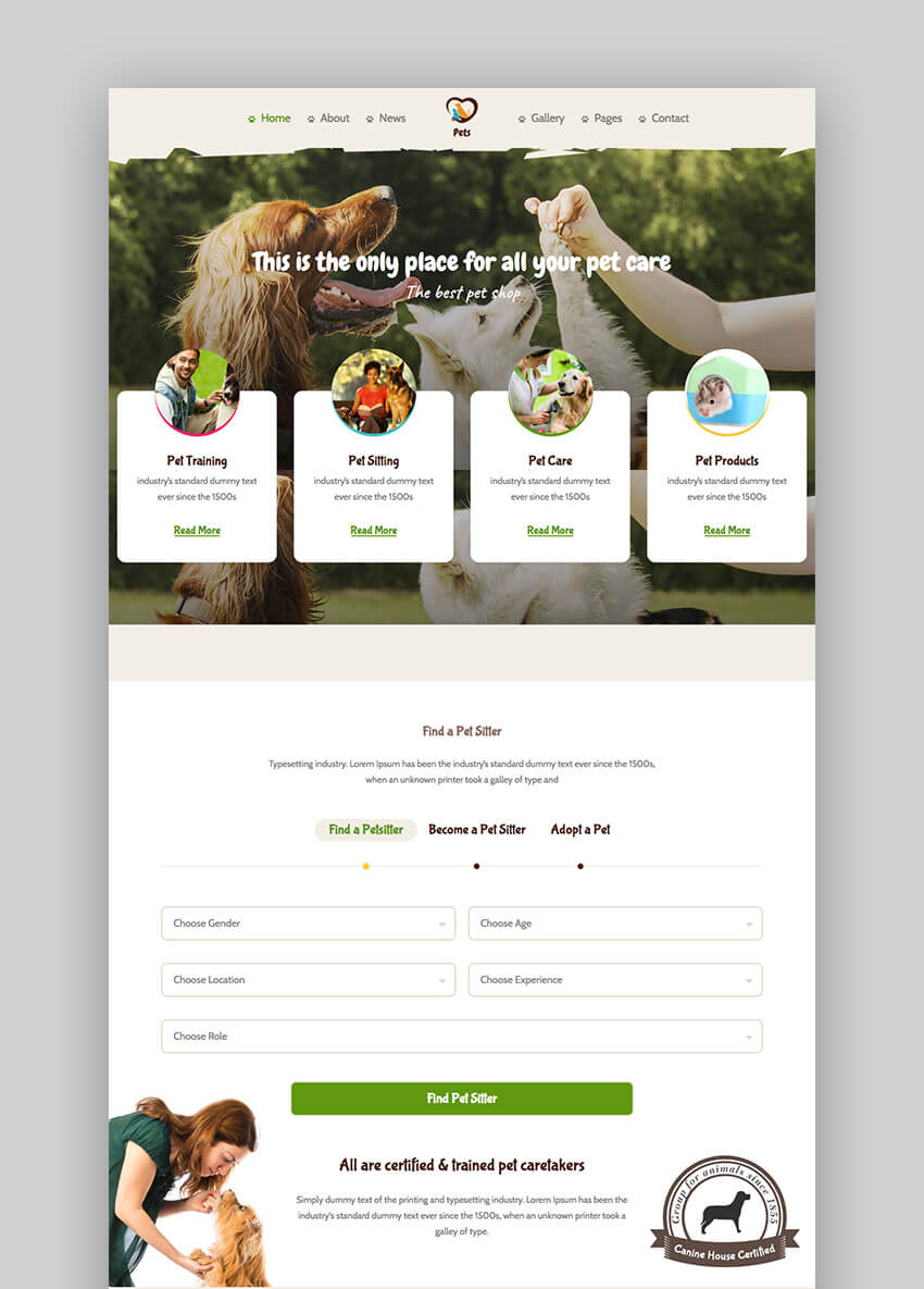 Pet World job board WordPress listing theme