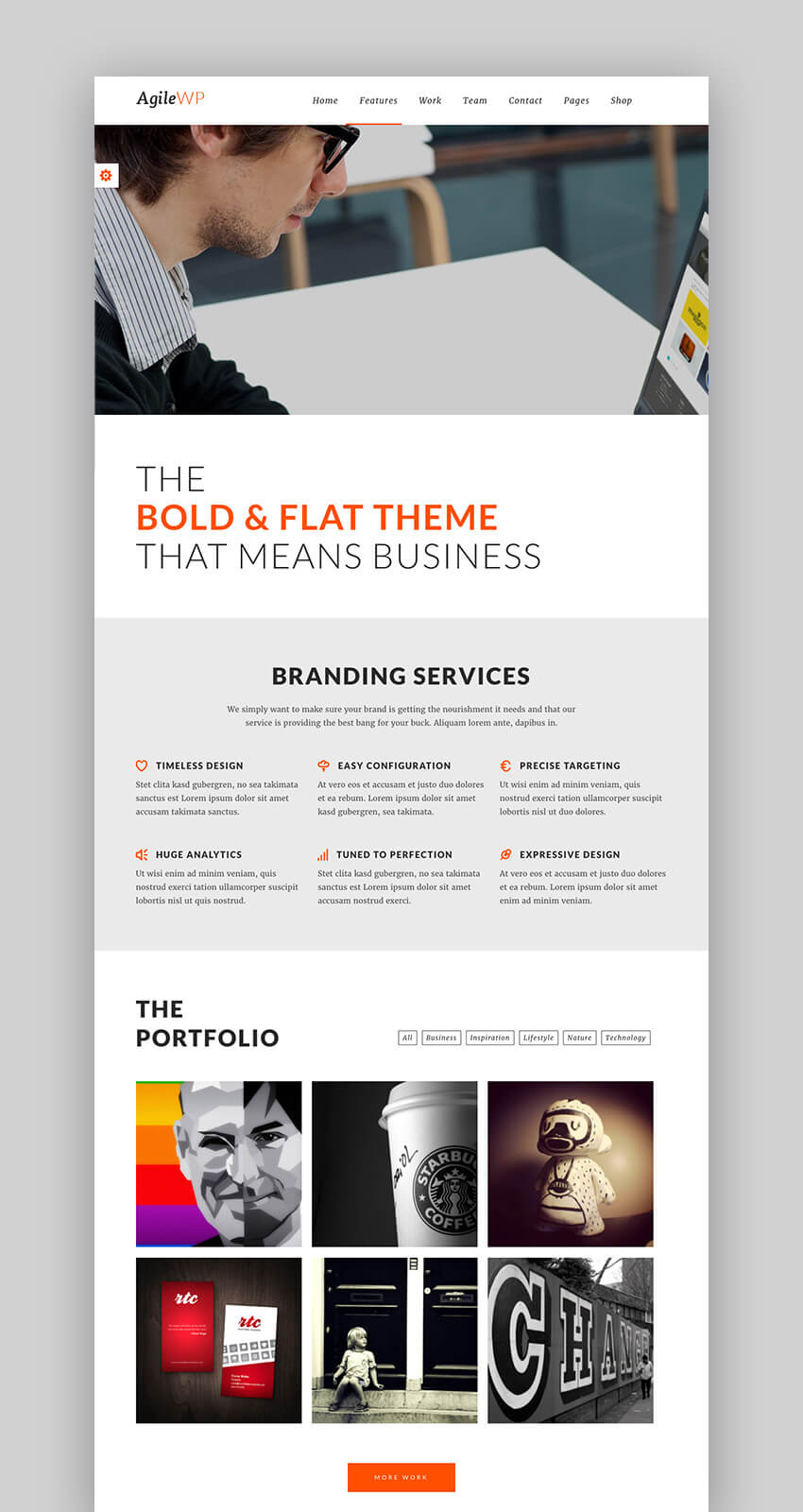 Agile multipurpose WordPress Mobile App theme