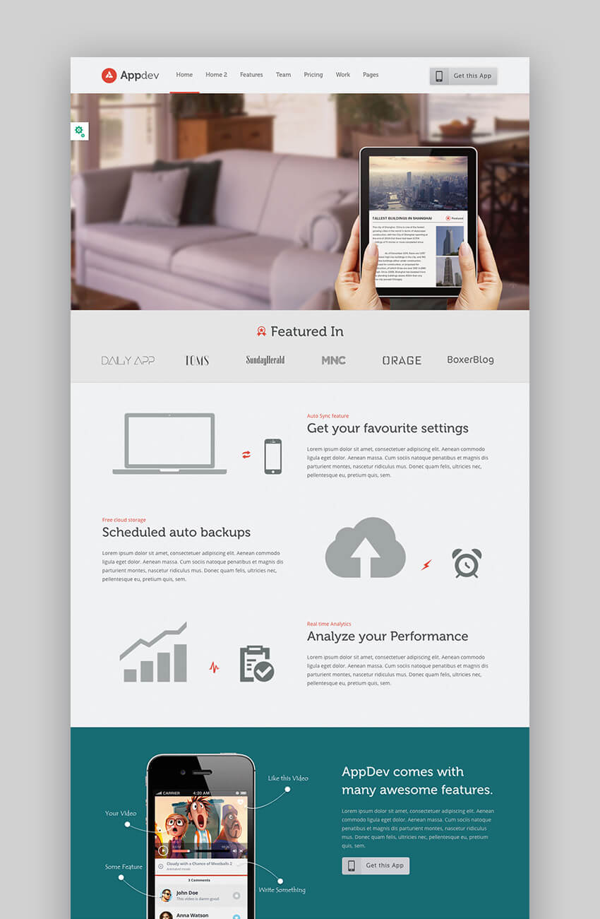 AppDev versatile App Software WordPress Theme