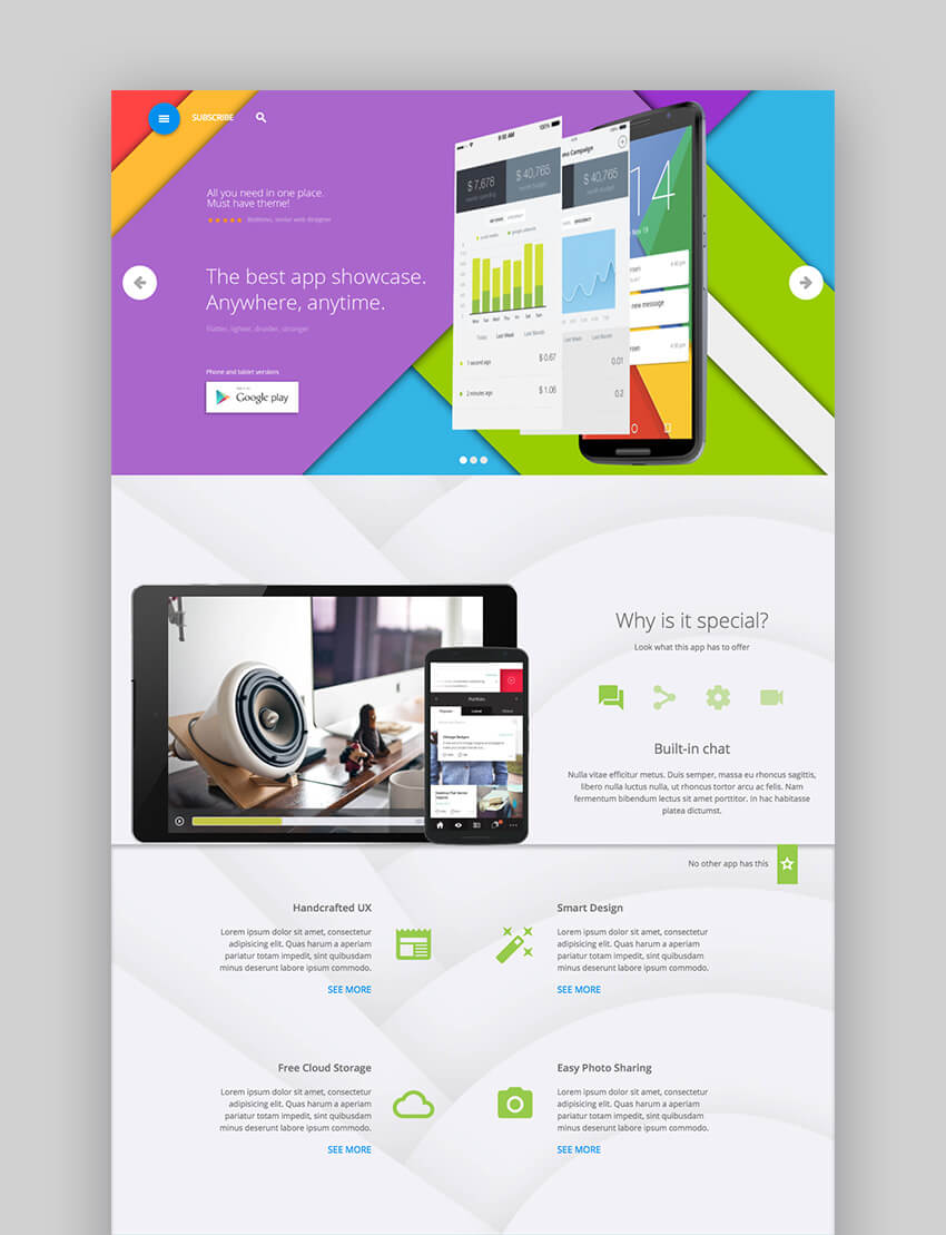 Appica app WordPress software theme design