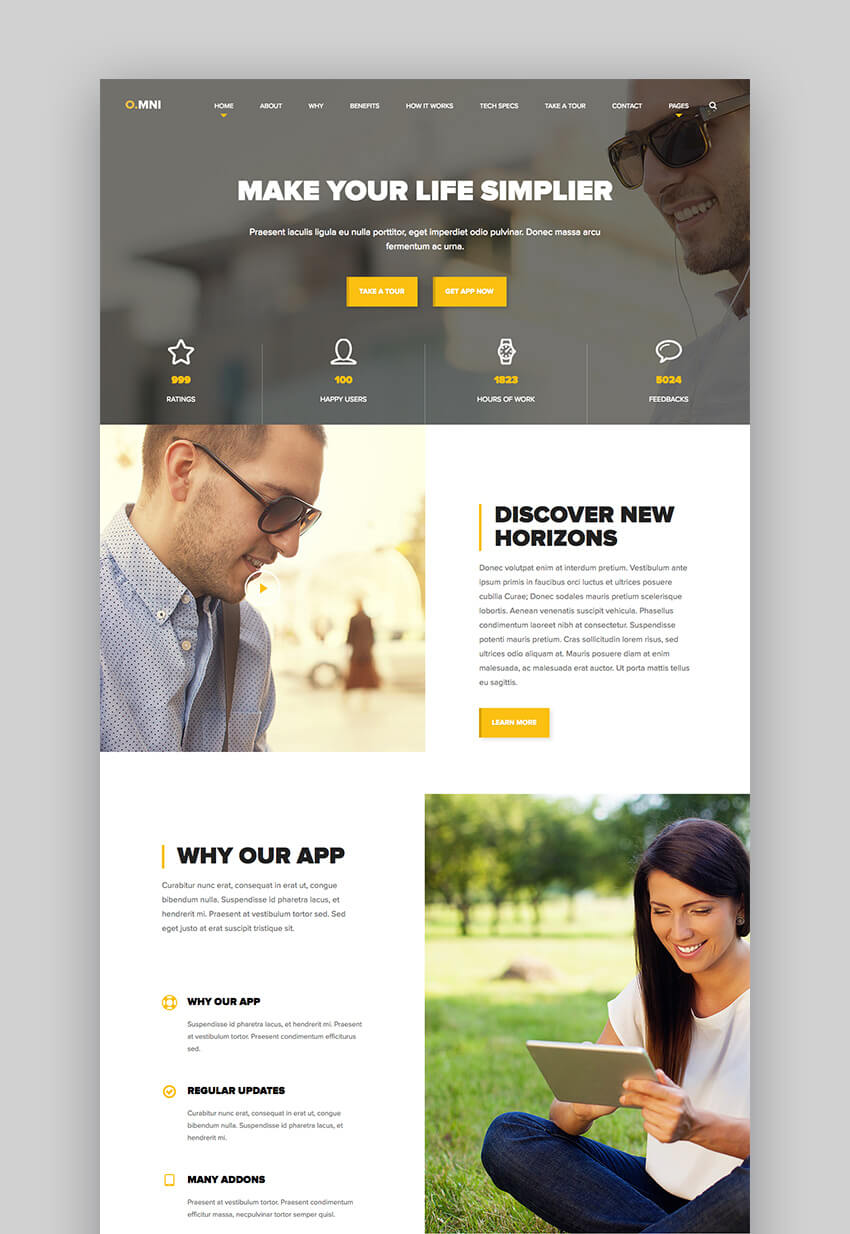 Omni style app and software Wordpress theme