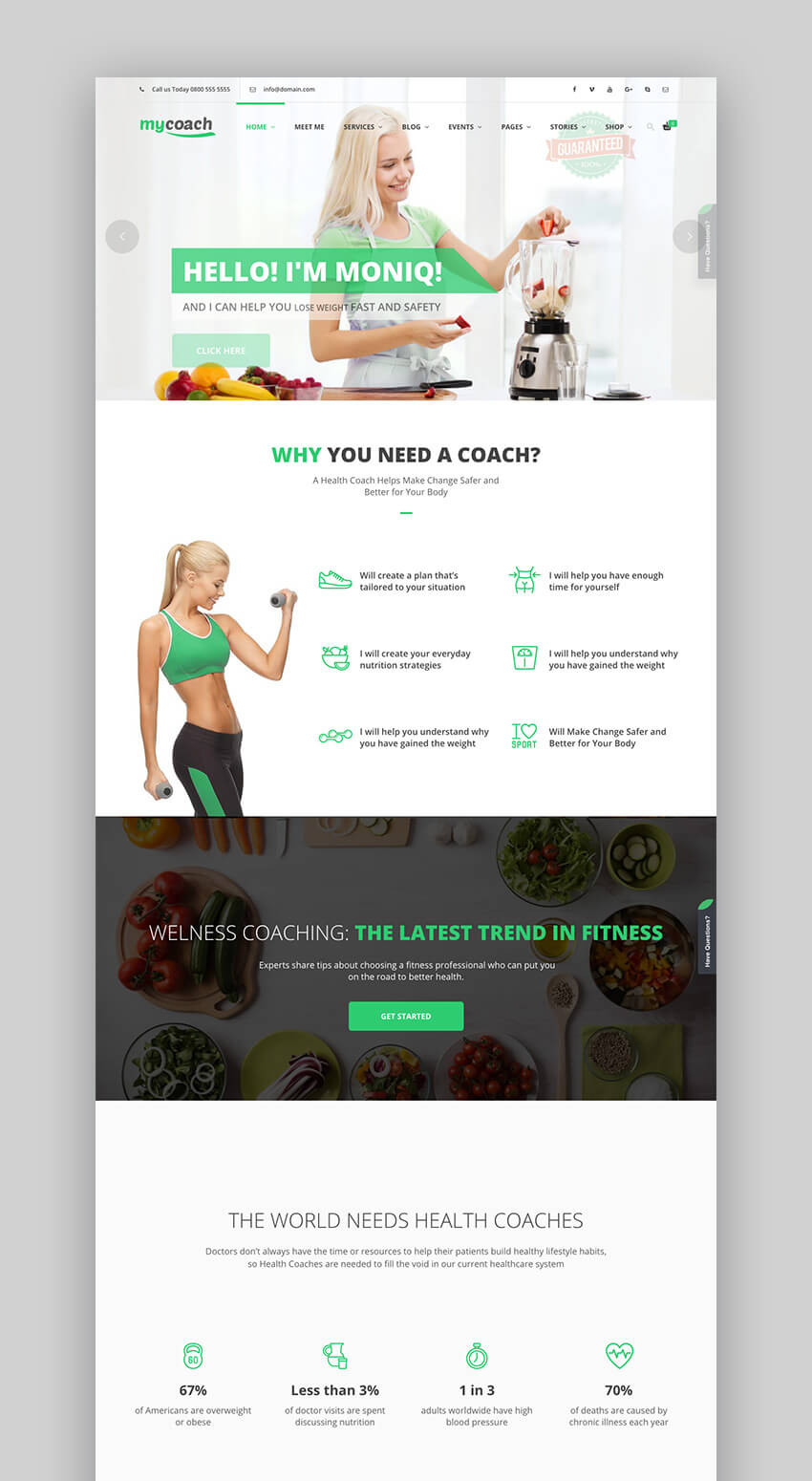 My Coach WordPress theme for health coaches
