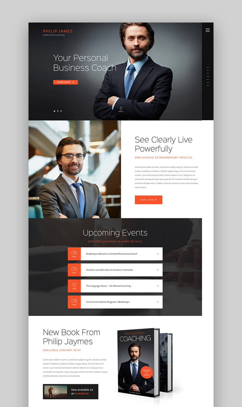 PJ life and business consulting WordPress theme