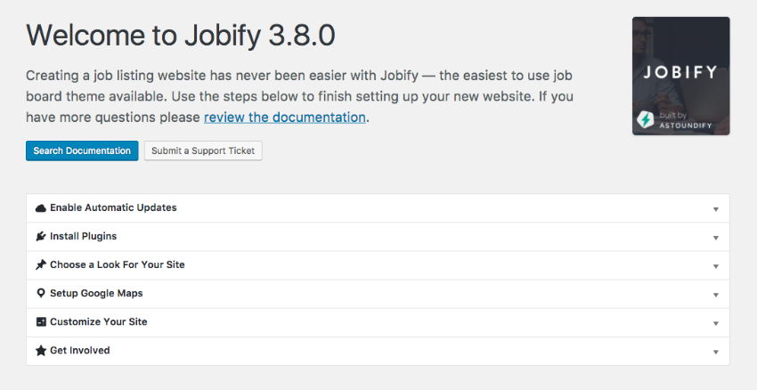 Jobify WordPress job word theme setup