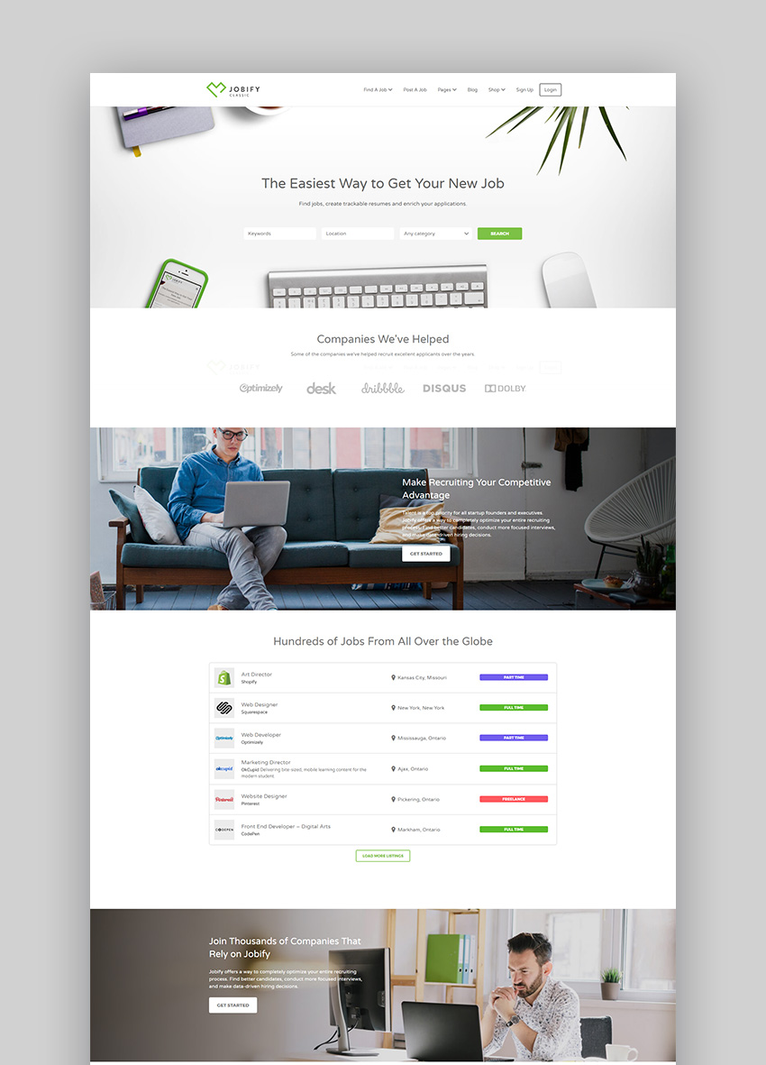 Jobify WordPress job word website theme