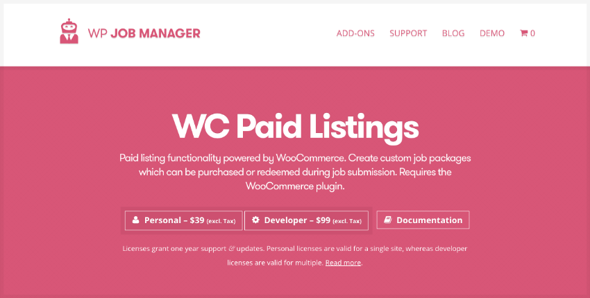 WC Paid Listings