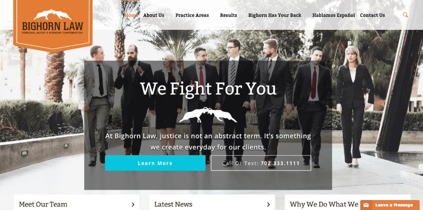 Web de la firma Bighorn Law