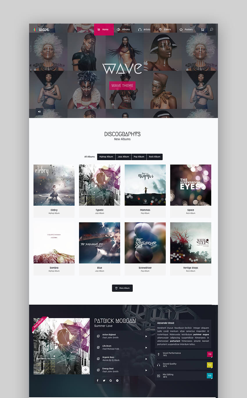Wave Versatile New Music WordPress Theme