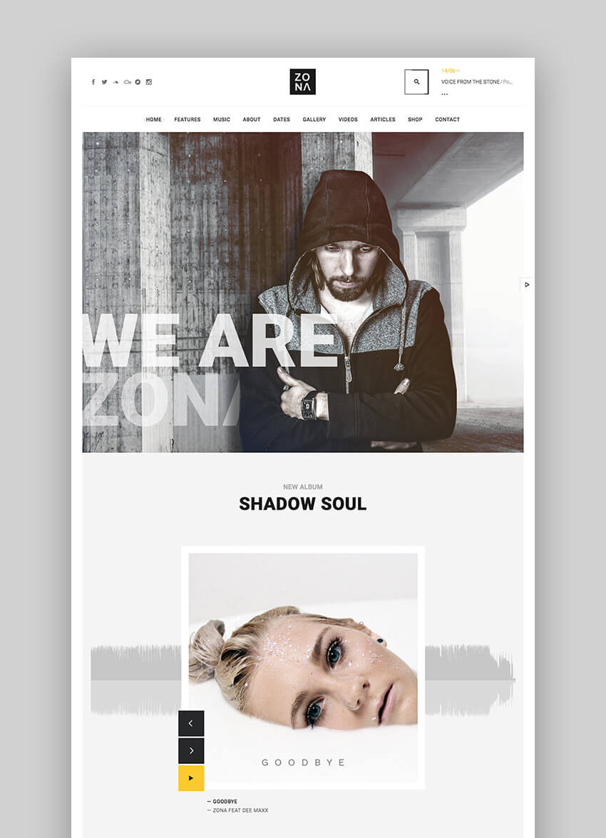 Zona Multipurpose Music Theme for WordPress
