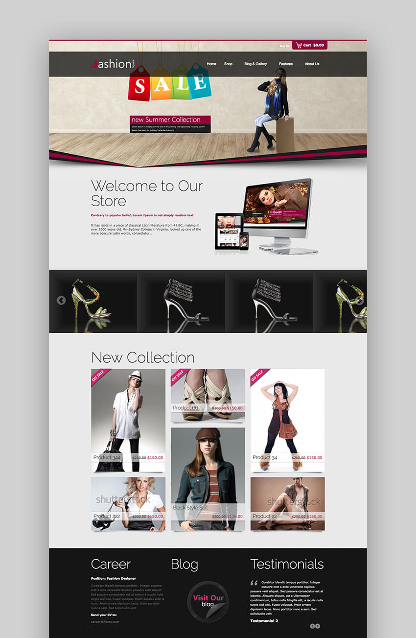 Fashion Shop WooCommerce WordPress theme