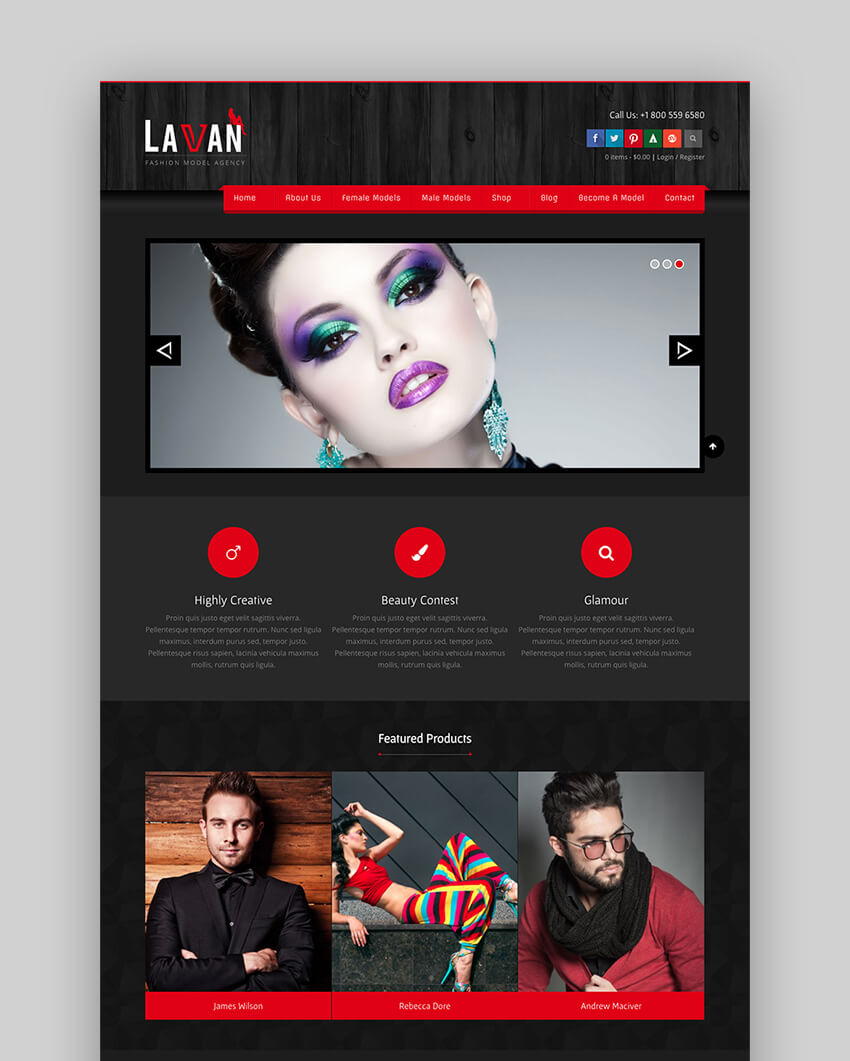 Lavan fashion WordPress theme design