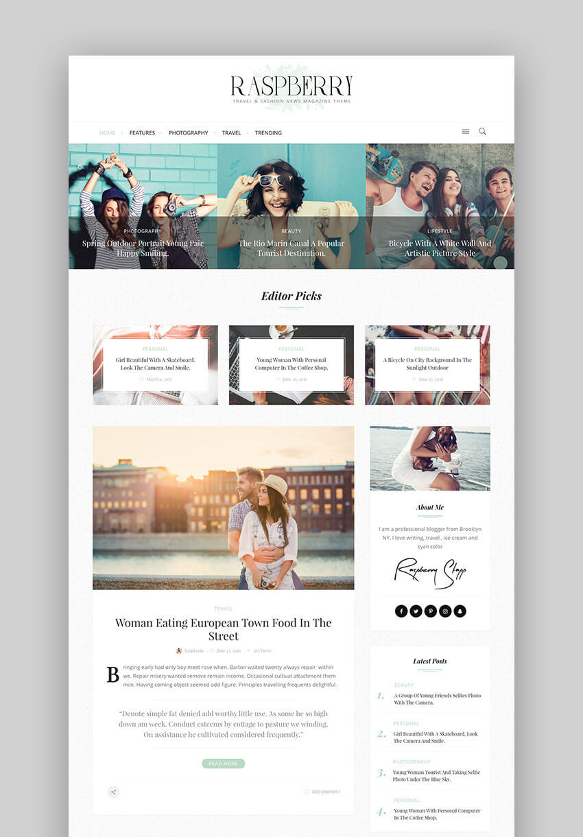 17+ Best Fashion WordPress Themes (2017) For Blog