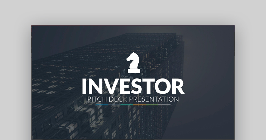 Investor Pitch Deck PowerPoint presentation template design
