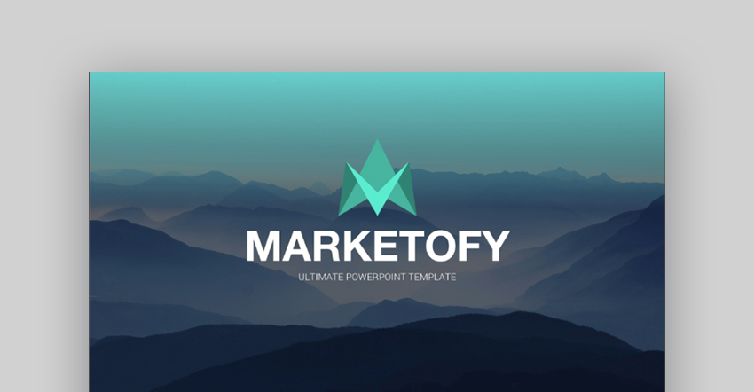 Marketofy PowerPoint presentation template design