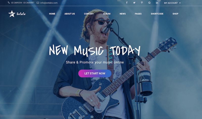 Solala Musician WordPress Theme