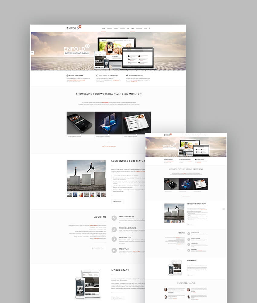 Enfold responsive theme for latest creative websites