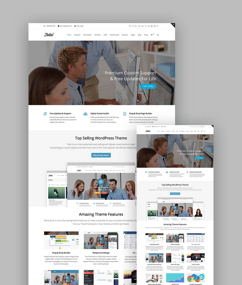 Total multipurpose responsive WordPress theme