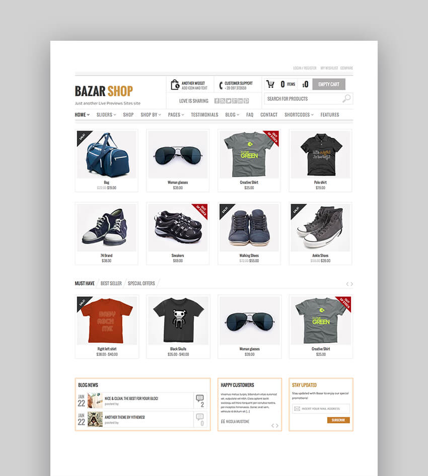 Bazaar Shop WooCommerce Theme
