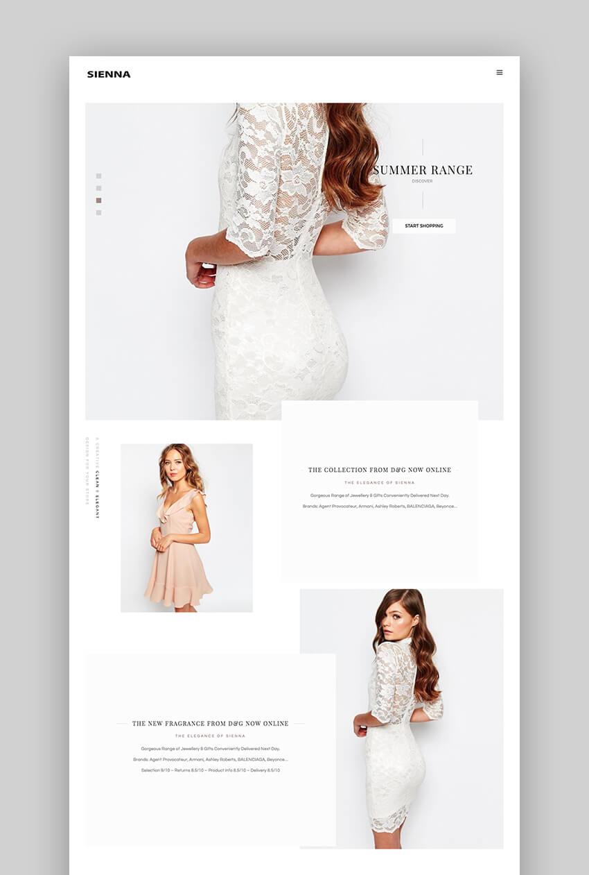 Sienna Fashion WooCommerce Theme
