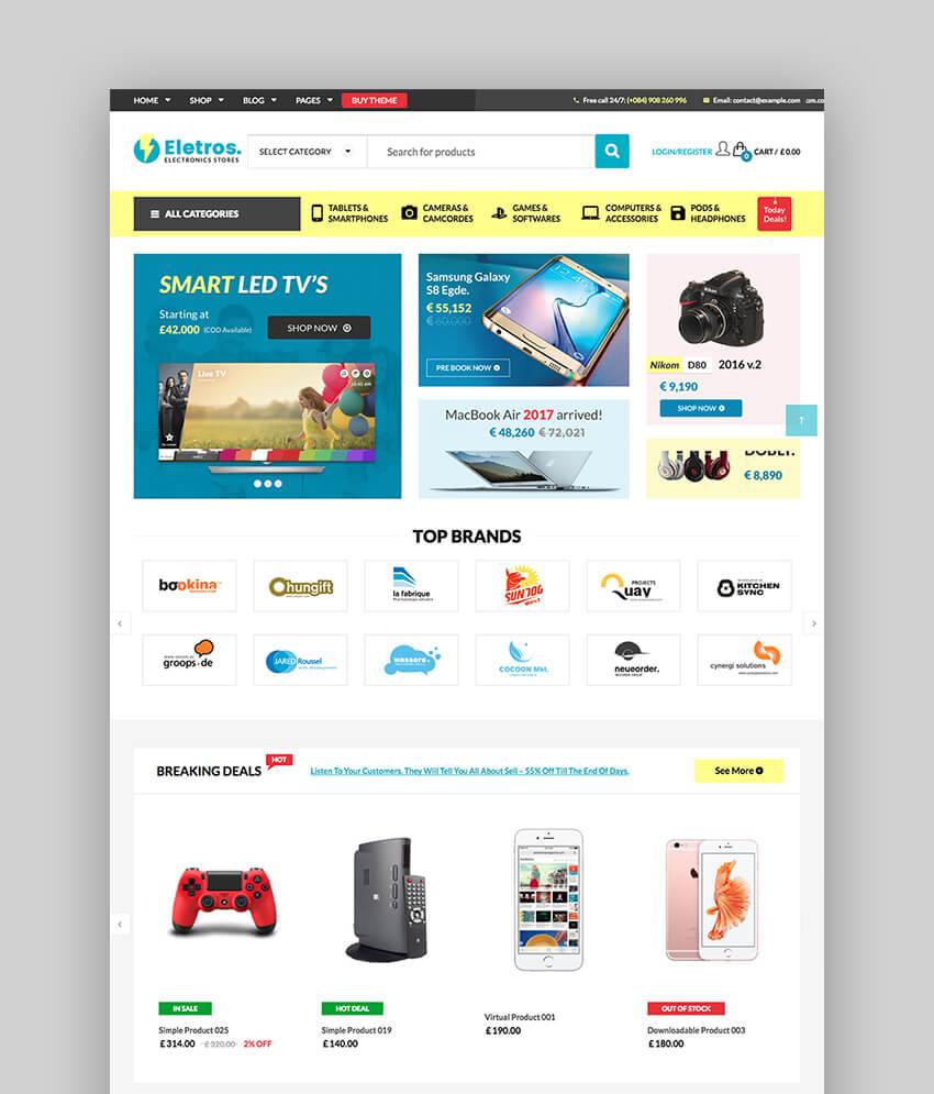 VG Eletros Wordpress eCommerce Theme