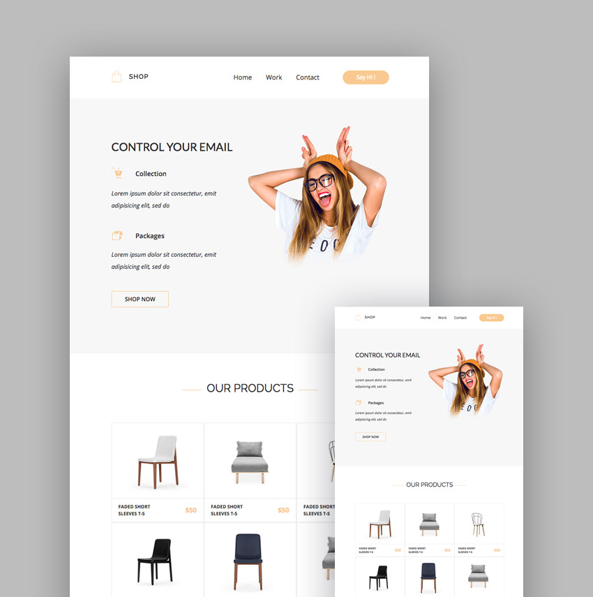Shop e-commerce template