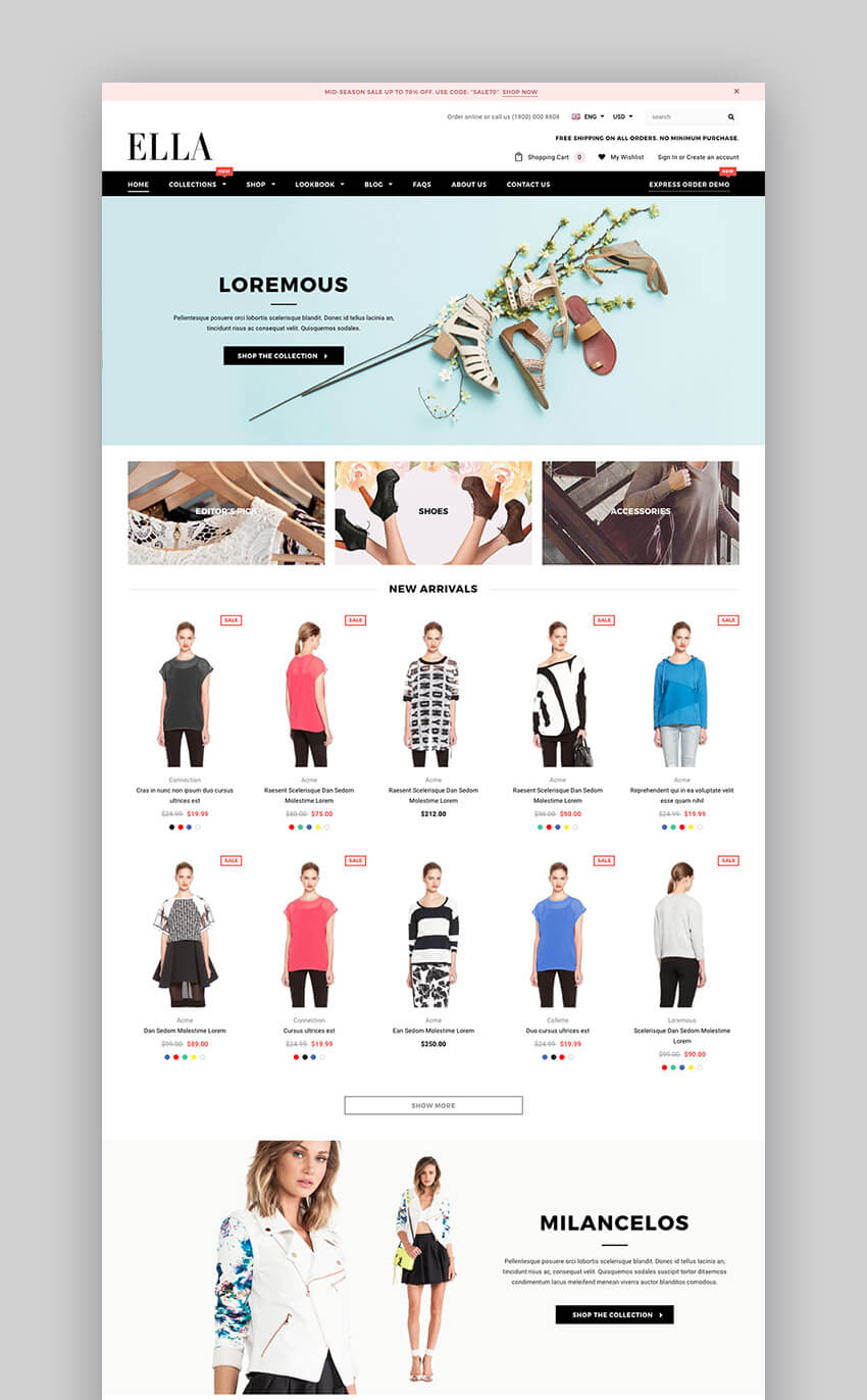 Ella Shopify Theme for fashion