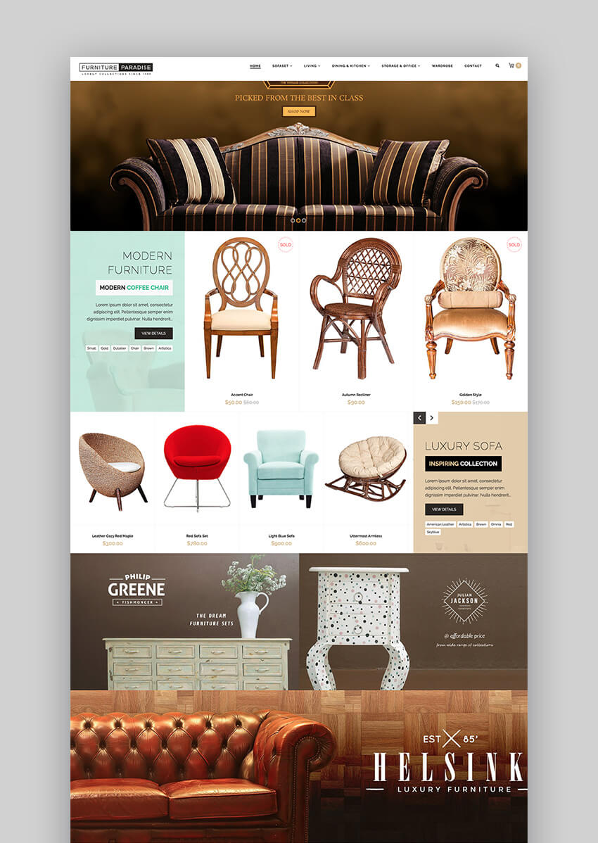 Furniture Paradise fullscreen theme