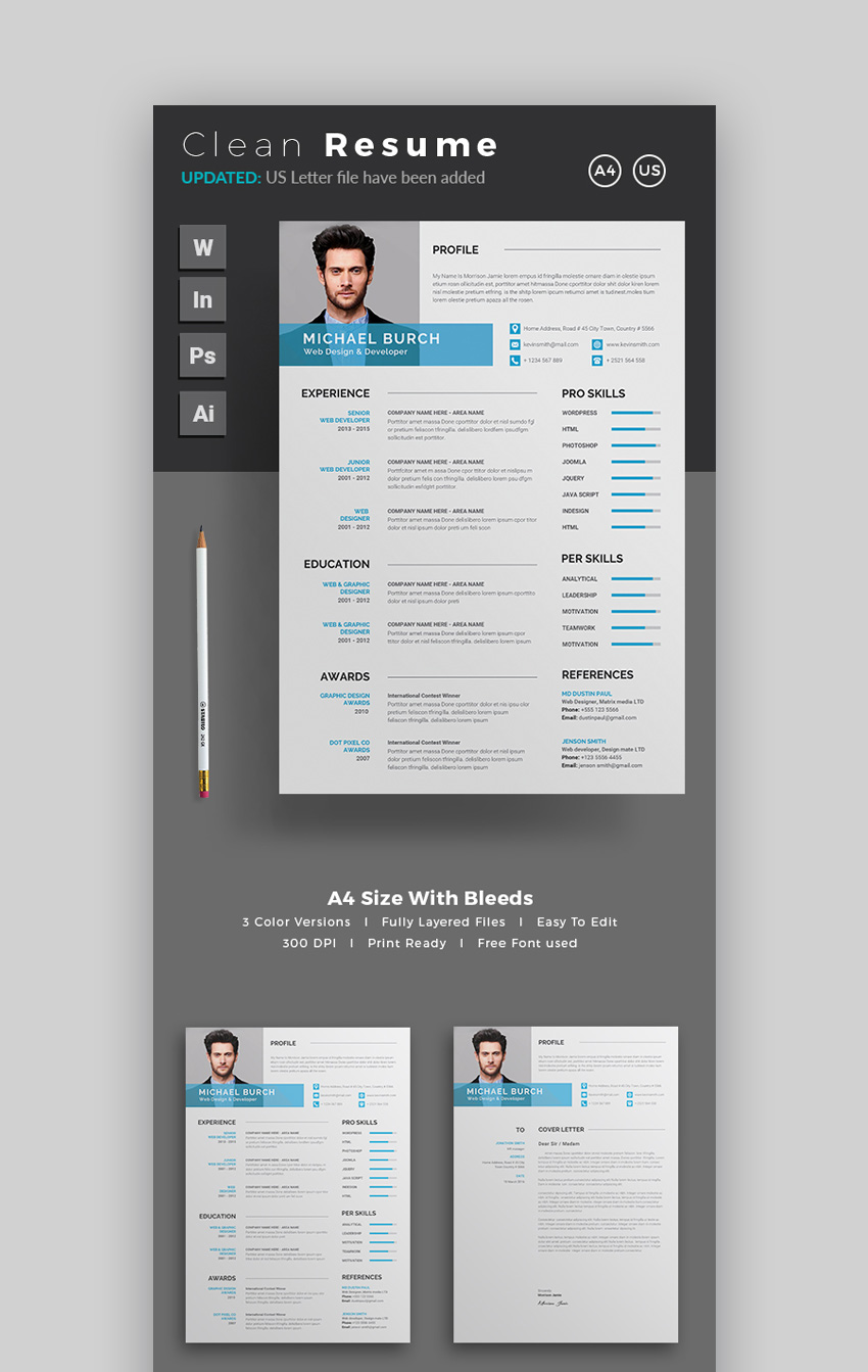 18 modern resume templates with clean elegant designs 2018 resume modern resume template altavistaventures Image collections