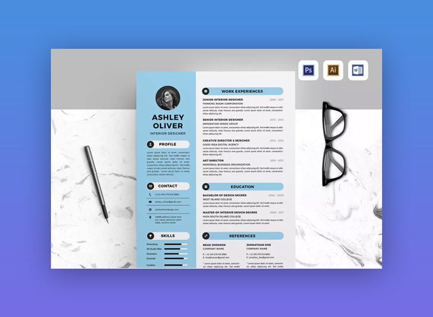 20 Modern Resume Templates With Clean Elegant Designs 2019