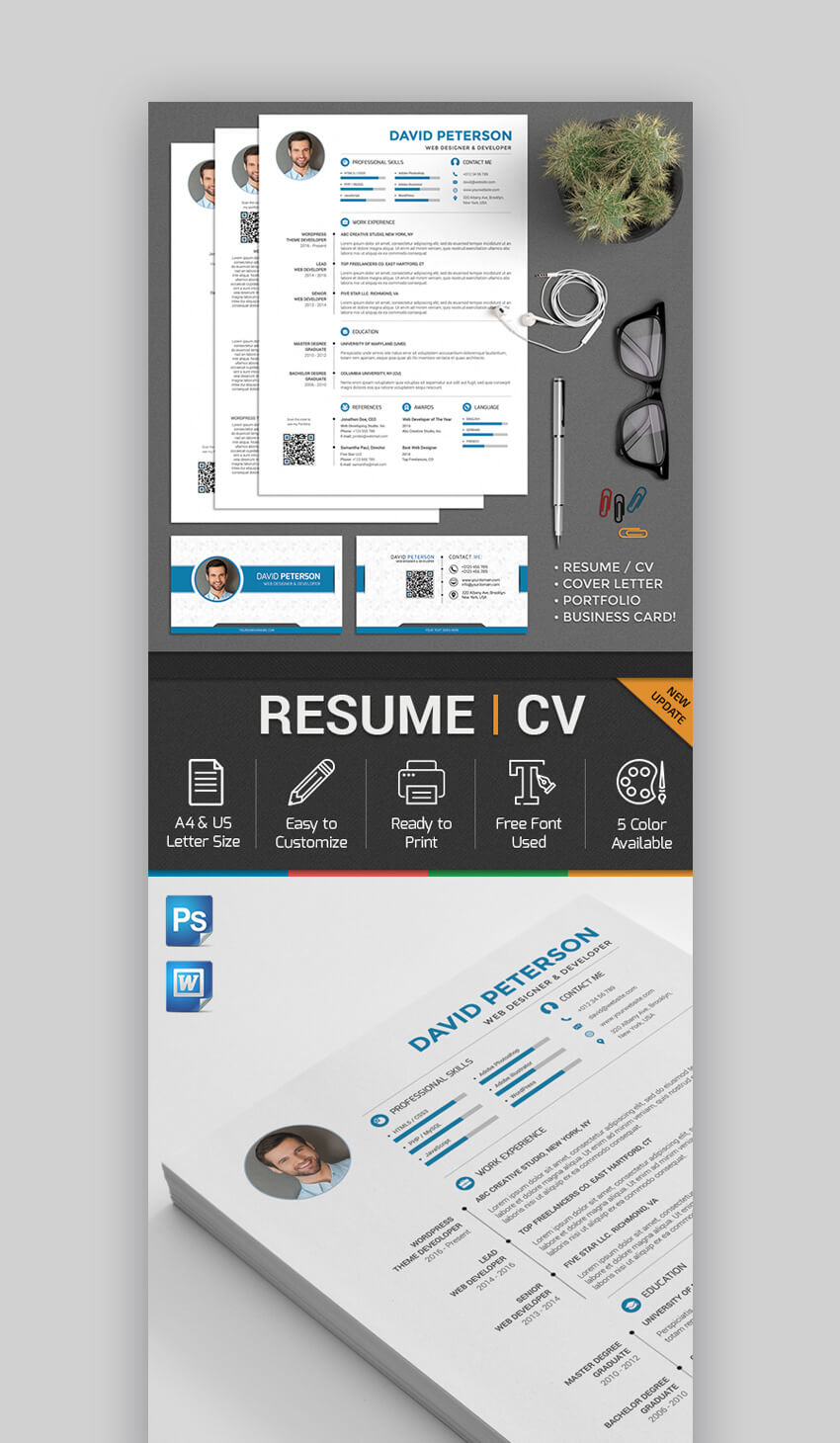Modern Resume Templates With Clean Elegant Designs