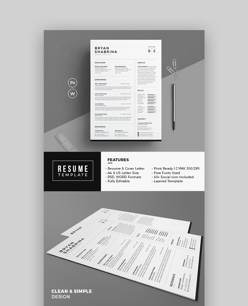 resume clean resume template