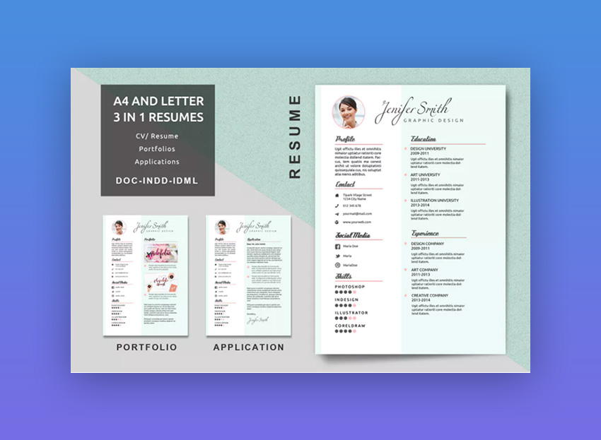 Resume Creative Templates  Design Resume Templates