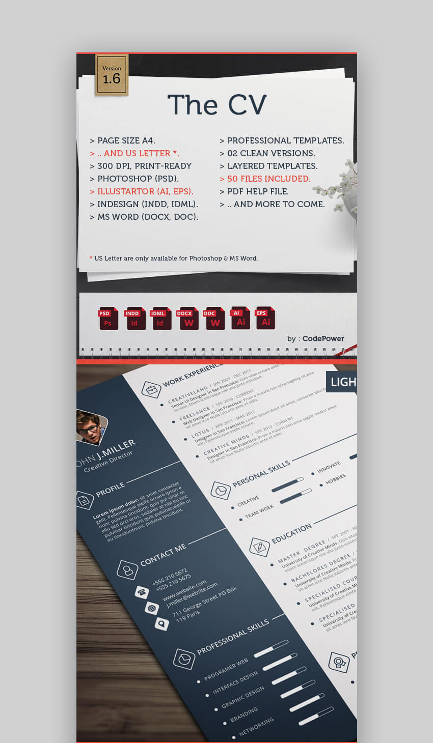 the cv stylish resume template