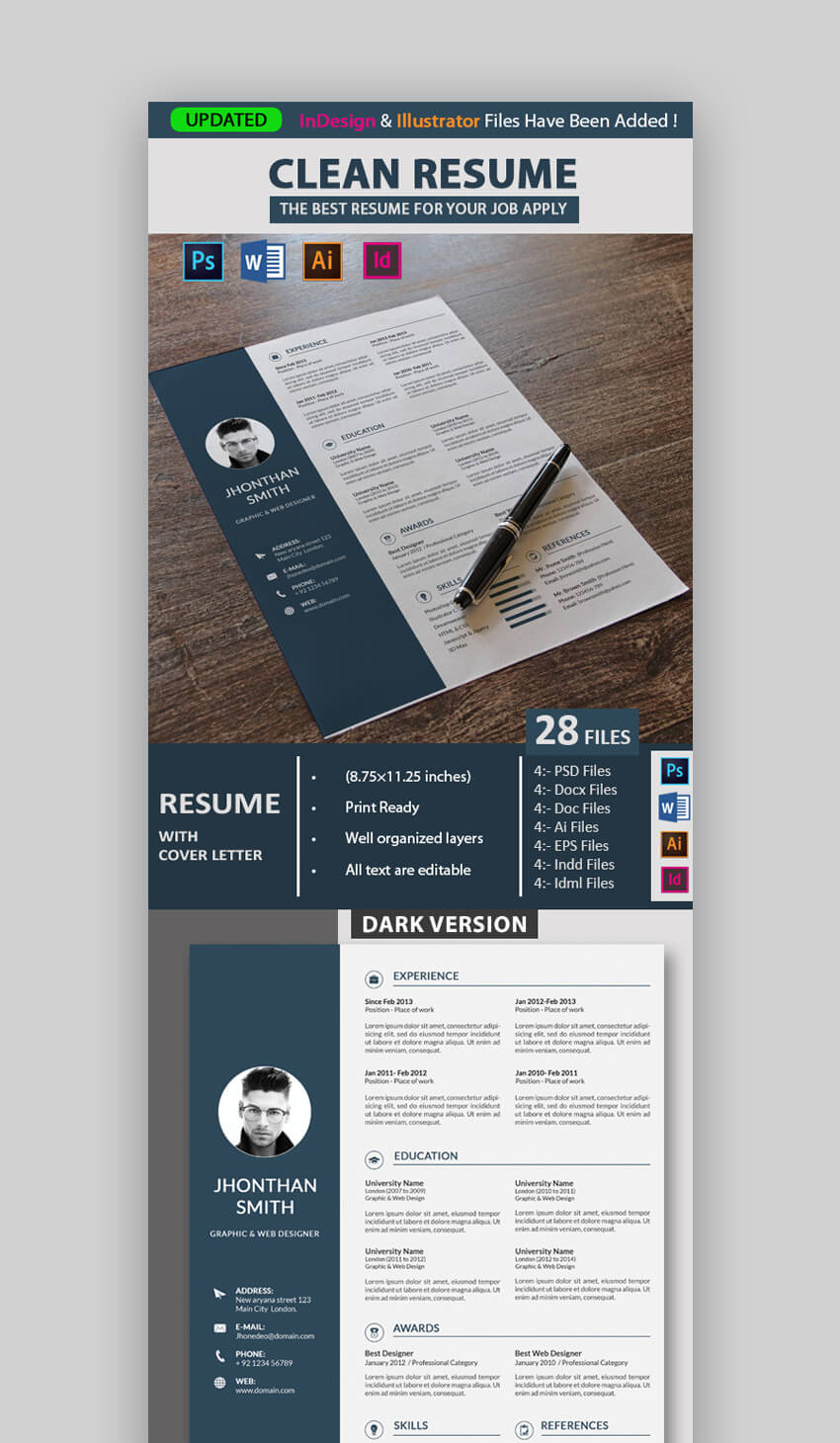 Well Organized Resume Template  Design Resume Templates