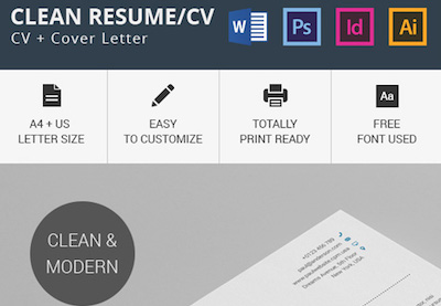 Modern Resume Templates With Clean Elegant Designs - Free modern logo templates