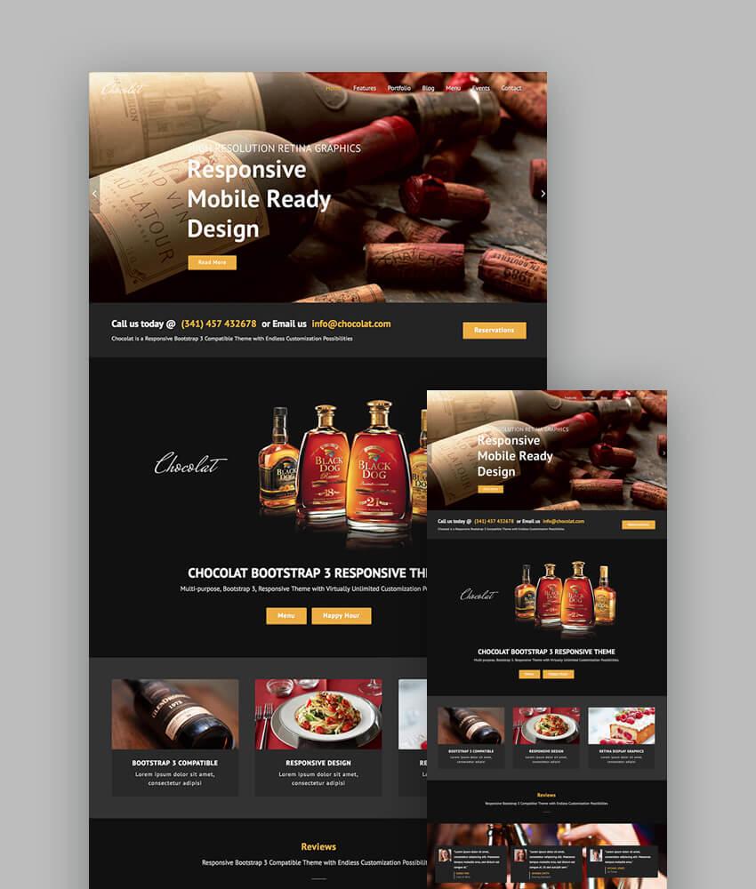 18+ Best Responsive Restaurant & Food Website Templates