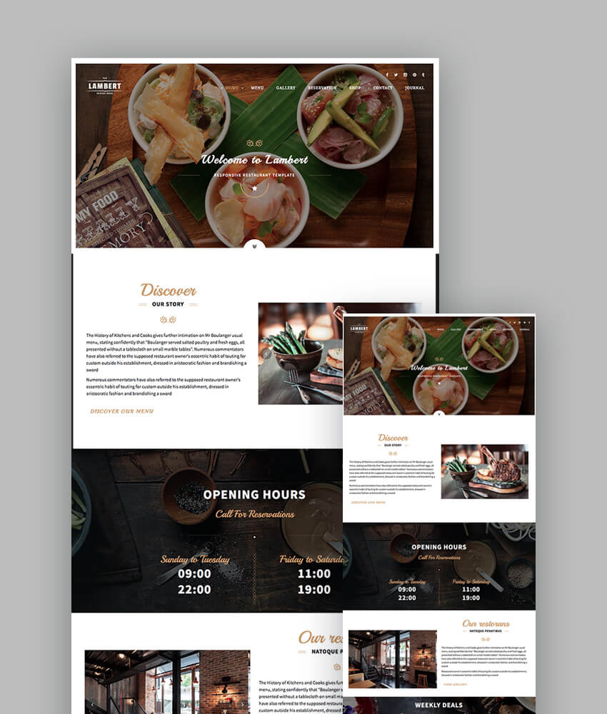 Lambert Cafe and Pub Template