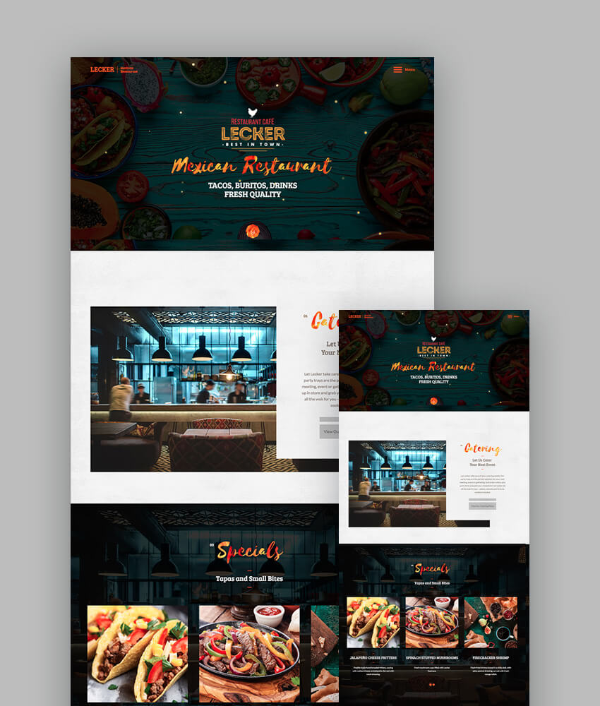 Lecker Multipurpose Cafe And Restaurant Template