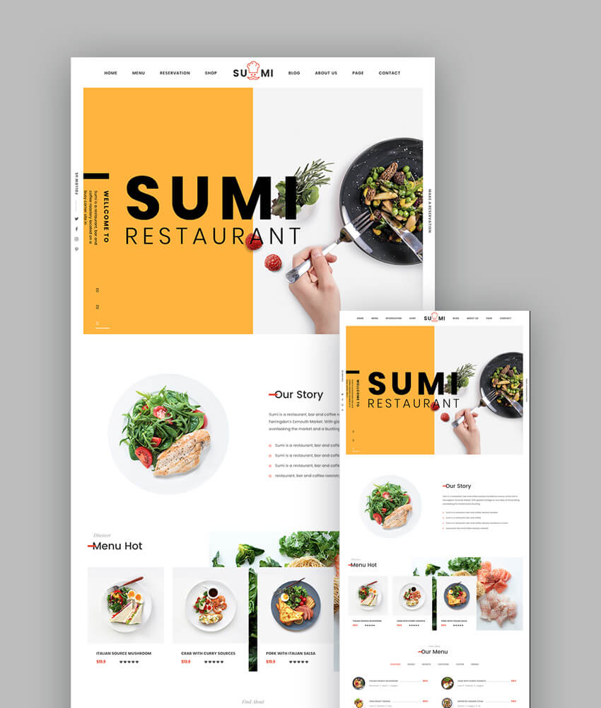 18 Best Responsive Restaurant Food Website Templates
