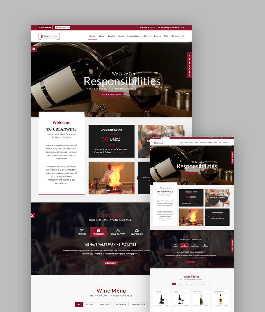 UrbanGrill Restaurant Food Template