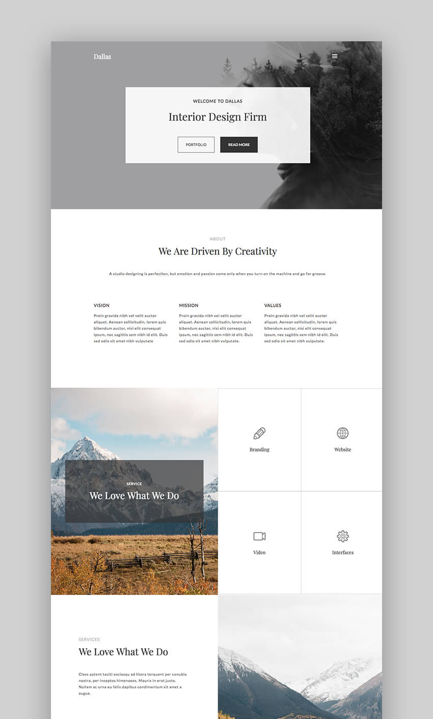 Dallas WordPress Theme