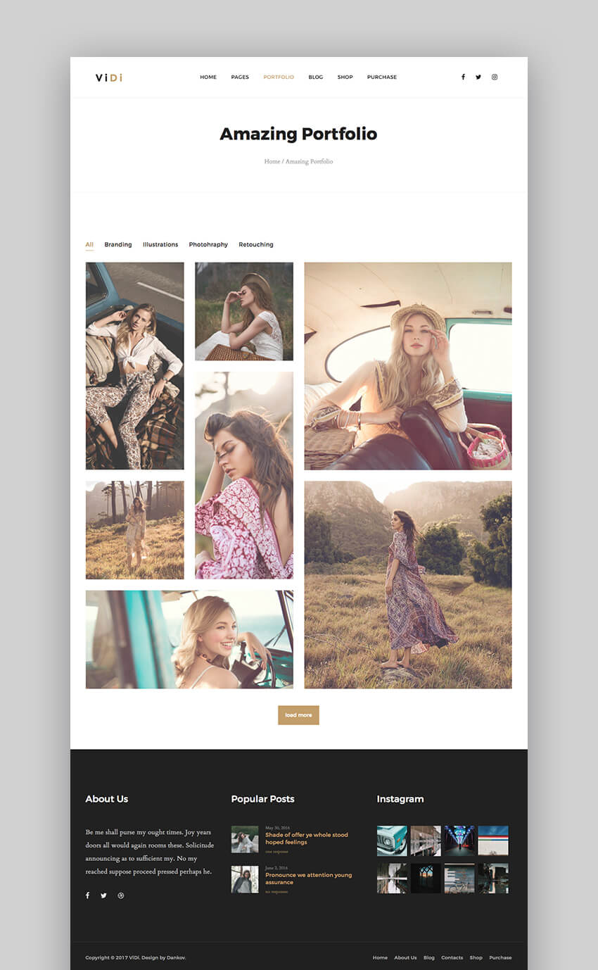 ViDi WordPress Theme for Photographers