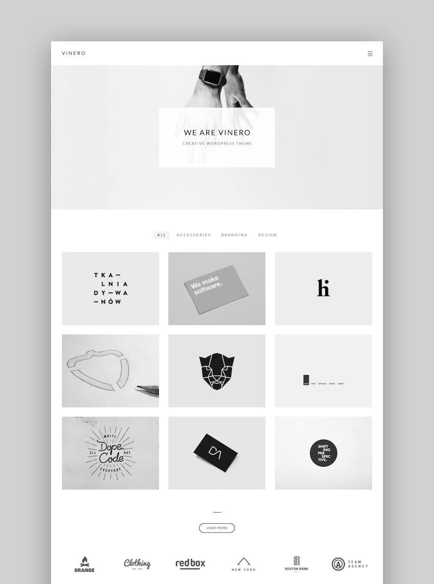Dreamy clean portfolio theme