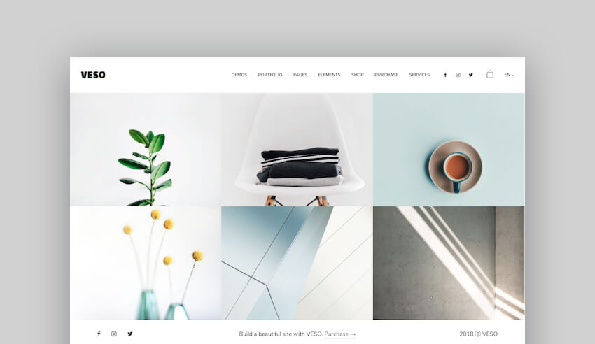 Veso modern portfolio theme