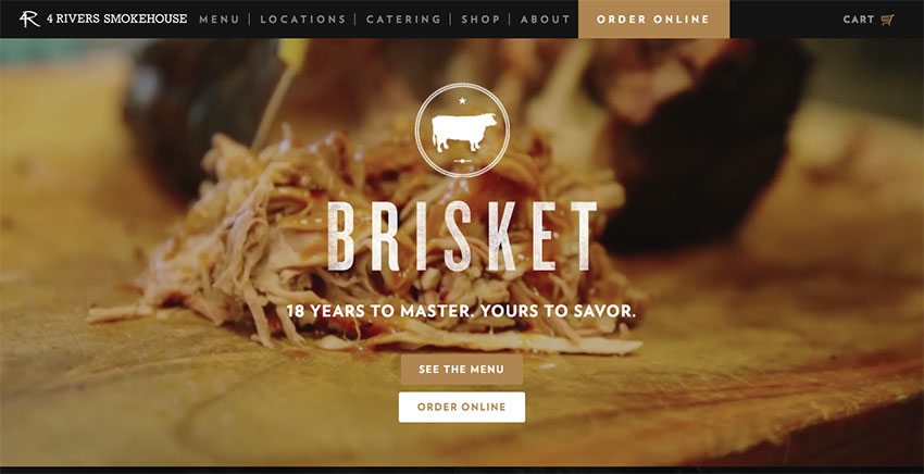 4 Rivers Smokehouse restaurant website