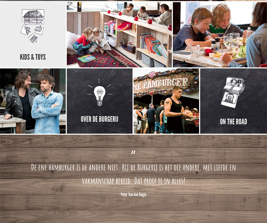 BurgerIJ restaurant website