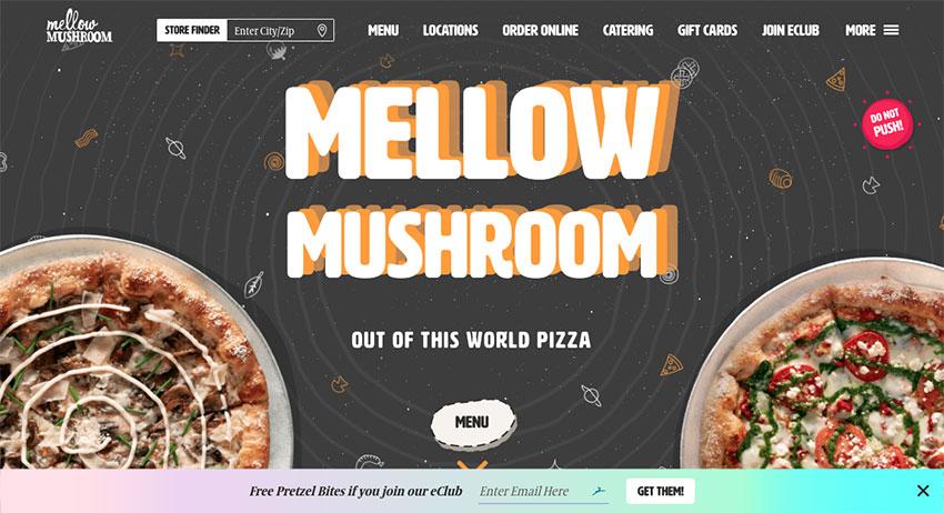 Mellow Mushroom website
