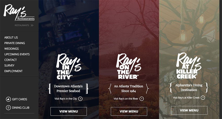 Rays Restaurant website
